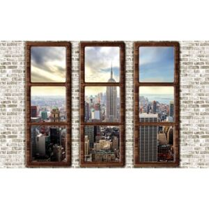 New York City Skyline Window View Fototapet, (368 x 254 cm)