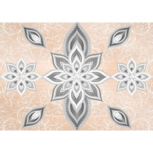 Abstract Pattern Silver Gold Fototapet, (104 x 70.5 cm)