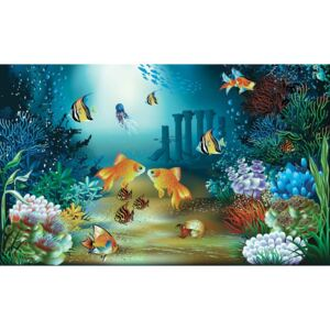 Fishes Corals Sea Fototapet, (152.5 x 104 cm)