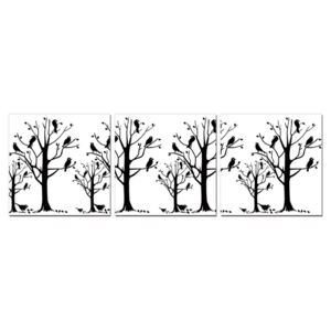 Modern design - black trees Tablou, (150 x 50 cm)