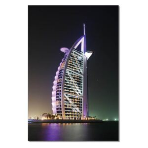 Burj Al Arab at night Tablou, (80 x 120 cm)