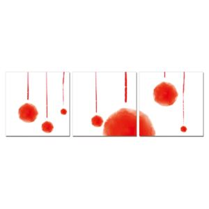 Modern design - red abstraction Tablou, (180 x 60 cm)