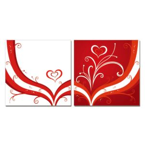 Modern design - the heart Tablou, (150 x 50 cm)