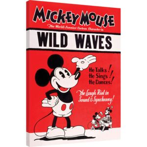 Mickey Mouse - Wild Waves Tablou Canvas, (60 x 80 cm)
