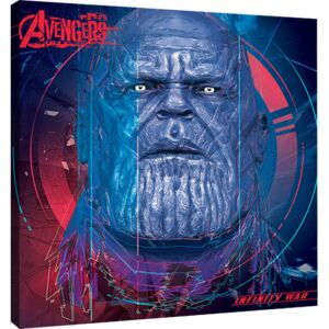 Avengers Infinity War - Thanos cubic Head Tablou Canvas, (40 x 40 cm)