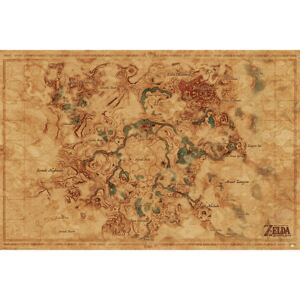The Legend Of Zelda: Breath Of The Wild - Hyrule World Map Poster, (91,5 x 61 cm)