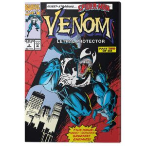 Venom - Lethal Protector Comic Cover Tablou Canvas, (60 x 80 cm)