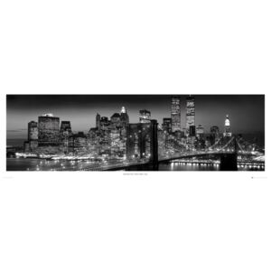 New York - Manhattan black Poster, (158 x 53 cm)