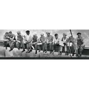 Men on girder Poster, (158 x 53 cm)