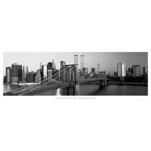 Manhattan - morning Poster, (158 x 53 cm)