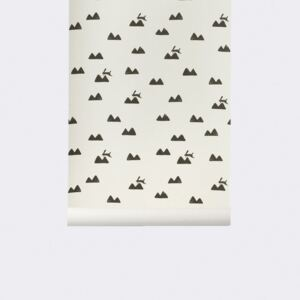 Rola tapet 53x1000 cm Rabbit alb Ferm Living