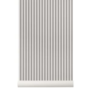Rola tapet gri 53x1000 cm Thin Lines Grey Off White Ferm Living