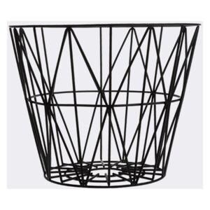 Cos negru din metal M Wire Ferm Living