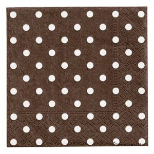Set 20 servetele maro 25x25 cm Dots Brown Bloomingville