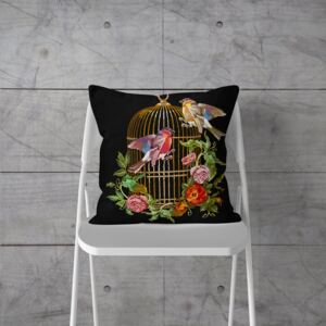 Fata de Perna Decorativa Bird in Cage 44x44 cm