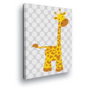 GLIX Tablou - Cartoon Giraffe 80x80 cm