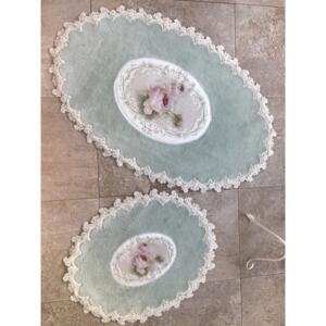 Set 2 Covorase de Baie - French Pearl Oval Mint