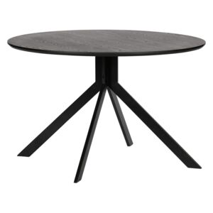 Masa rotunda din MDF si metal Bruno Black ø120cm | WOOOD