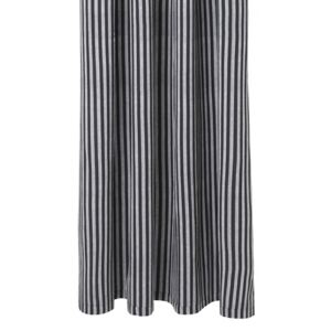 Perdea dus albastra din bumbac 160x205 cm Chambray Striped Ferm Living