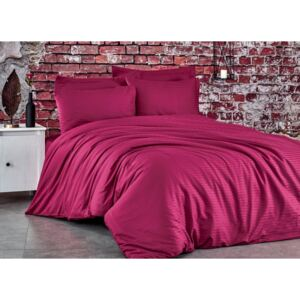 Lenjerie de pat premium satin de lux, Club Cotton, Stripe Wine