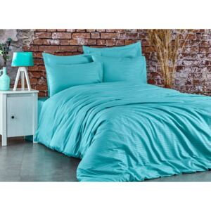 Lenjerie de pat premium satin de lux, Club Cotton, Stripe Mint