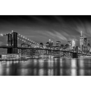 Fotografii artistice BROOKLYN BRIDGE Nightly Impressions | Monochrome, Melanie Viola