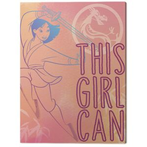 Tablou Canvas Mulan - This Girl Can, (40 x 50 cm)