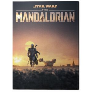 Tablou Canvas Star Wars: The Mandalorian - Dusk, (60 x 80 cm)