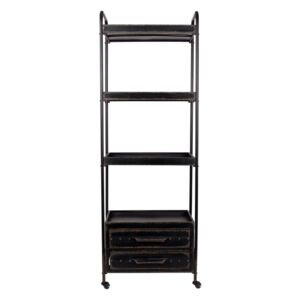 Biblioteca din metal cu 4 rafturi Shelf Ryan