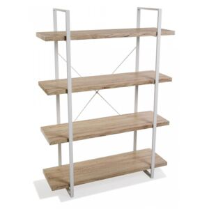 Etajera maro/alba din metal si lemn 141,5 cm Wooden Shelf Four Versa Home
