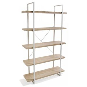 Etajera maro/alba din metal si lemn 179 cm Wooden Shelf Five Versa Home
