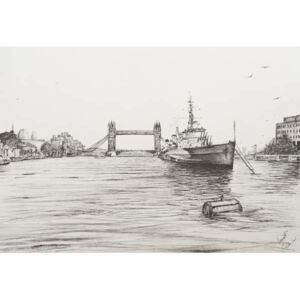 HMS Belfast on the river Thames London, 2006, Reproducere, Vincent Alexander Booth