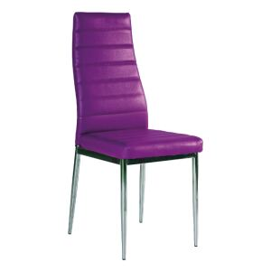 Scaun bucatarie si dining H261 OTEL SI PIELE ECOLOGICA VIOLET/CROM