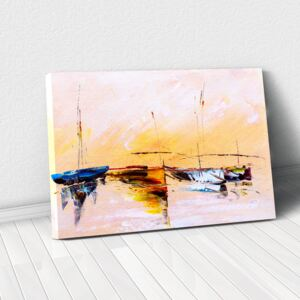 Tablou Canvas - Painting Boat