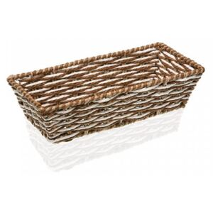 Cos gri/maro din plastic Brown Rectangle Box Versa Home