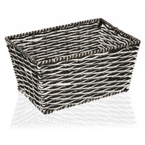 Cos gri/negru din plastic Grey Box Versa Home