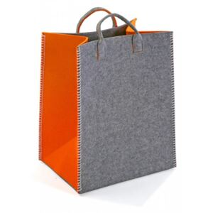 Cos gri/portocaliu din textil Orange Rectangle Basket Versa Home