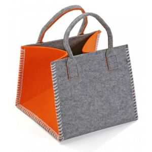 Cos gri/portocaliu din textil Orange Basket Versa Home