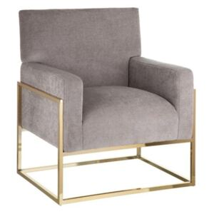 Fotoliu textil si baza din metal Armchair Grey Fabric/Metal