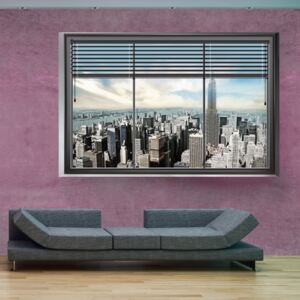 Fototapet Bimago - New York window II + Adeziv gratuit 250x175 cm