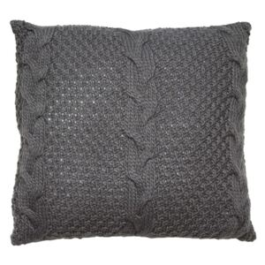 Perna gri din acril 45x45 cm Knitted Santiago Pons