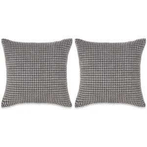 Set perne decorative 2 buc. Velur 45 x 45 cm Gri