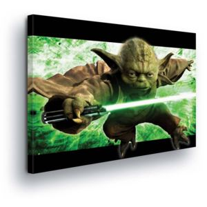 GLIX Tablou - Star Wars Warrior Yoda 100x75 cm