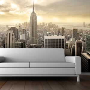Fototapet Bimago - New York - Manhattan At Dawn + Adeziv gratuit 450x270 cm