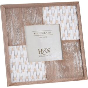 Rama foto clasica Home Styling Collection, 10x10 cm, Alb/Maro