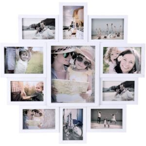 Rame foto Home Styling Collection, 11 fotografii, Plastic, Alb