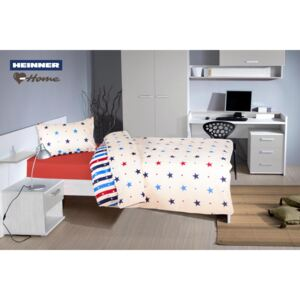 Lenjerie 2 piese single Heinner Home 100% bumbac Stars2