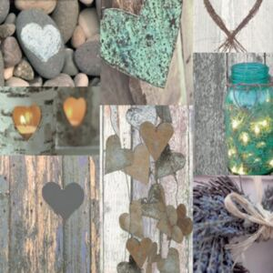 Arthouse Tapet - Rustic Heart Natural Rustic Heart Natural