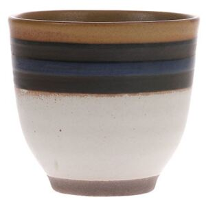 Cana rotunda din ceramica 150 ml Kyoto Blue Striped HK Living