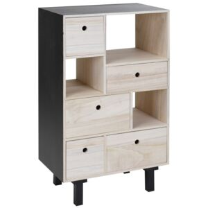 Biblioteca tip comoda Home Styling Collection, MDF, Maro